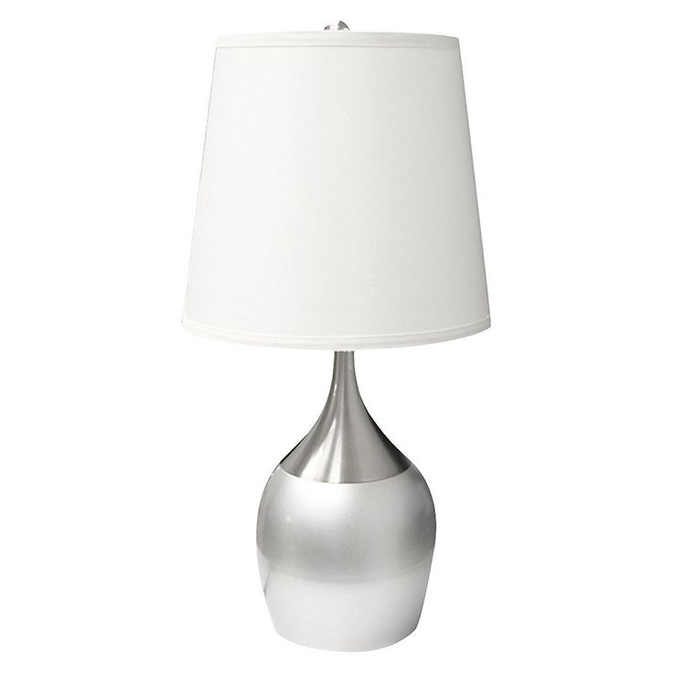 Touch-On Table Lamp - Silver/White