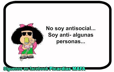 Mundo de Postales: NO SOY ANTISOCIAL...