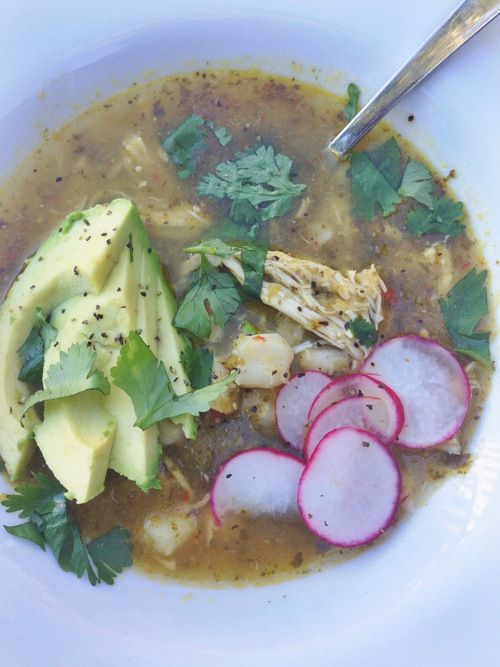 i can say from personal experience that this is one of THE BEST soups I've ever tasted! // CHICKEN POZOLE VERDE   laurenariza