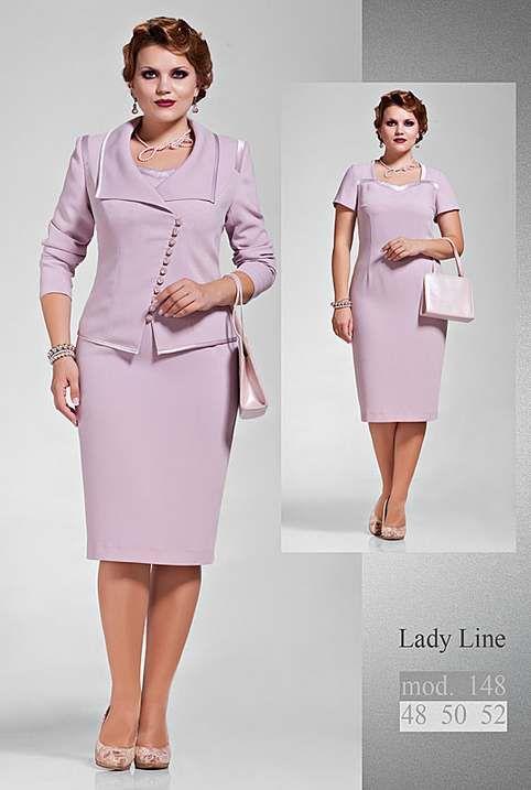 Костюмы для полных девушек и женщин белорусской компании Lady Line. Осень-зима 2014-2015