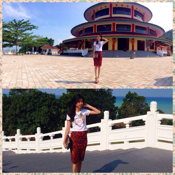 Puteri Indonesia Bangka Belitung 2014 wearing our Batik Tees (Verawaty)