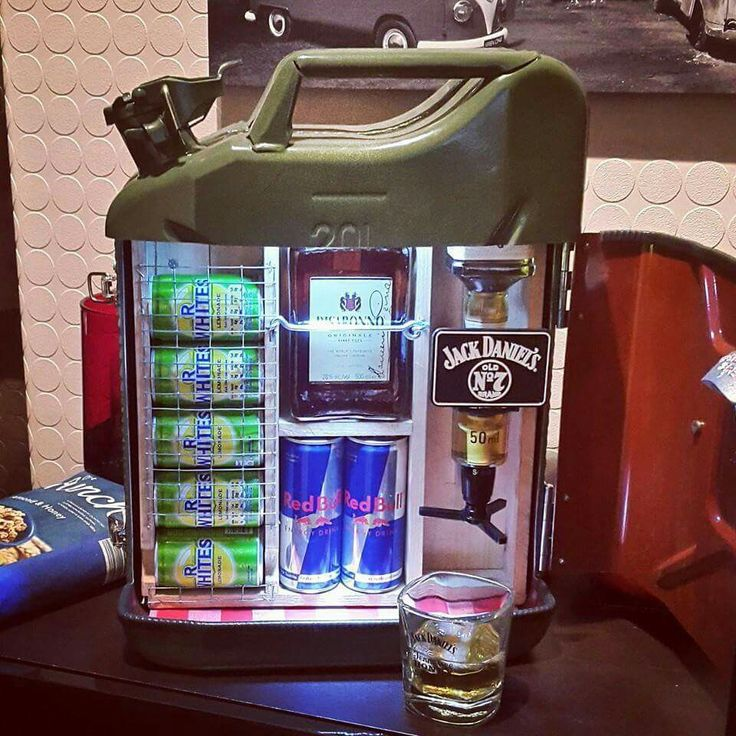 Jerry Can mini bar with Jack Daniels