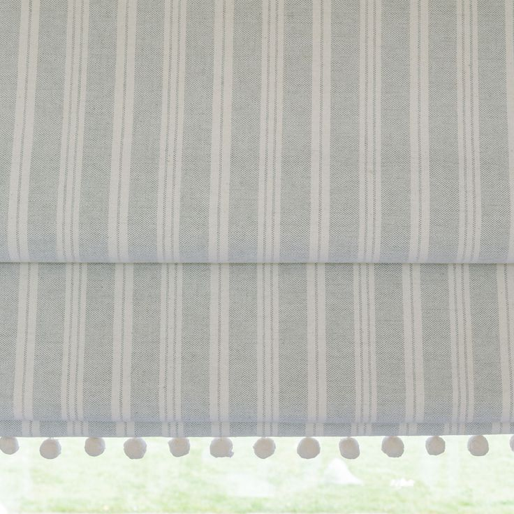 Fabric to cover sofa-bed. Fabric 257 - Sea/Ivory Cambridge Stripe | Susie Watson Designs