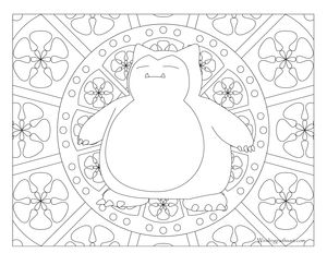 Free Printable Pokemon Coloring Page Snorlax