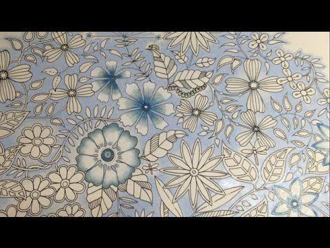 Blue Vintage Flowers Coloring Part 3 4 Secret Garden