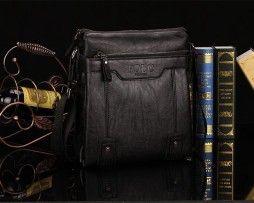 Kožená luxusná unisex taška cez rameno POLO (9)