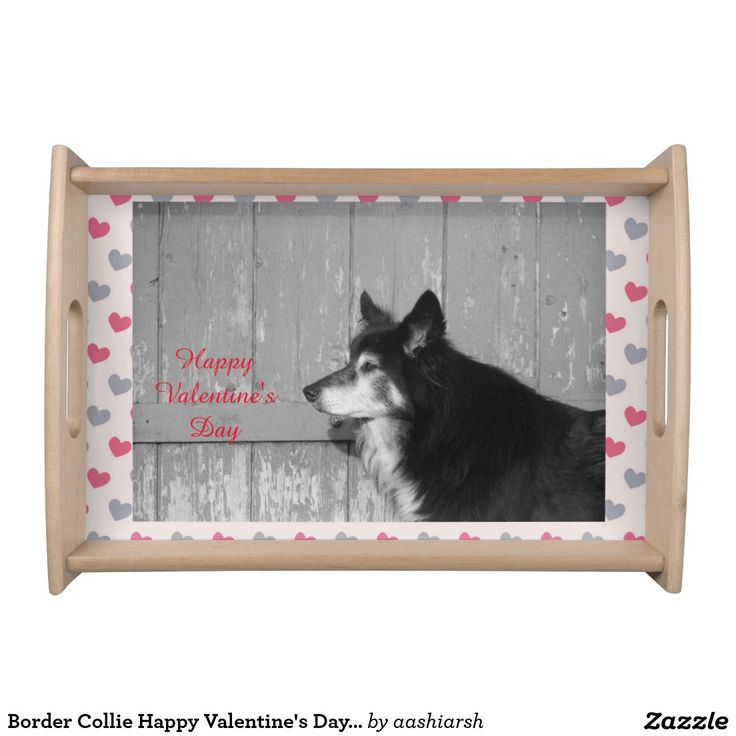 #BorderCollie #Happy #Valentine's #Day #serving #tray #kitchen #home #dog #pet #love