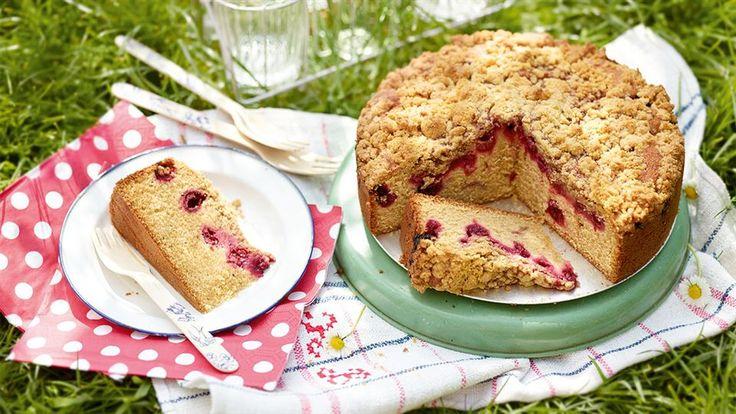 Ciasto z wiśniami i kruszonką migdałową - poznaj najlepszy przepis. ⭐ Sprawdź składniki i instrukcje na KuchniaLidla.pl!