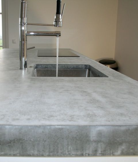 Oak ikea kitchen concrete countertop design ikea KOAK situ