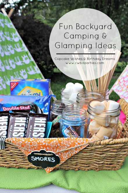 backyard camp out on Design Dazzle by Cupcake Wishes and Birthday Dreams