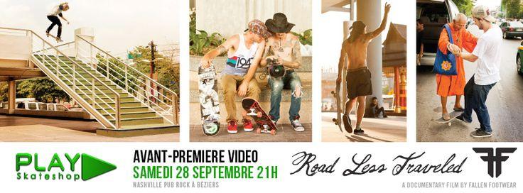 """Rendez-vous au Nashville Pub samedi 28 septembre à partir de 21h pour l'avant-première de la vidéo FALLEN Footwear """"Road Less Traveled"""""""