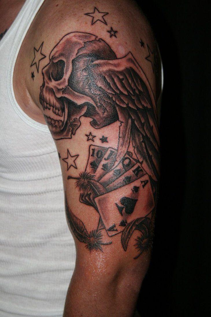 18 best Skull Sleeve Tattoo Stencils images on Pinterest ...