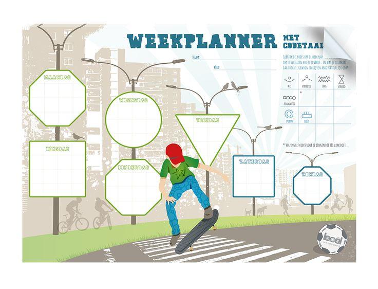 Weekplanner met codetaal - Semmie Sprekend Spel