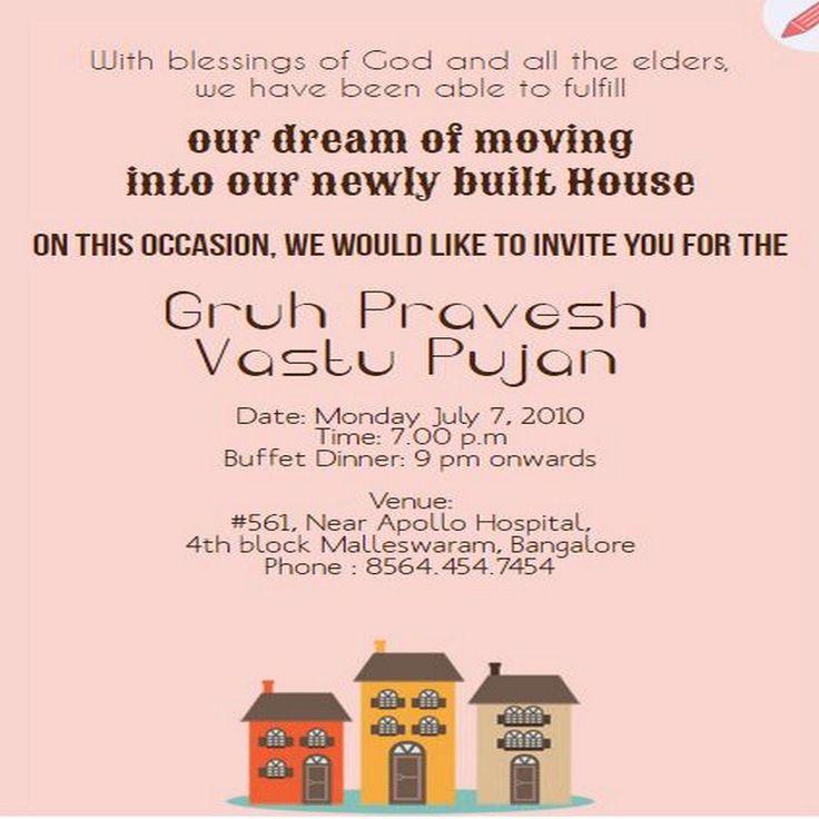 7 best free house warming grihapravesh vasthu shanti pooja editable invitation for newly built house grouptable httpst stopboris Gallery