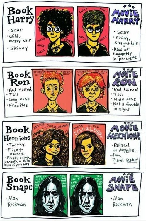 Ha ha! Book Snape and movie Snape are both Alan Rickman!!
