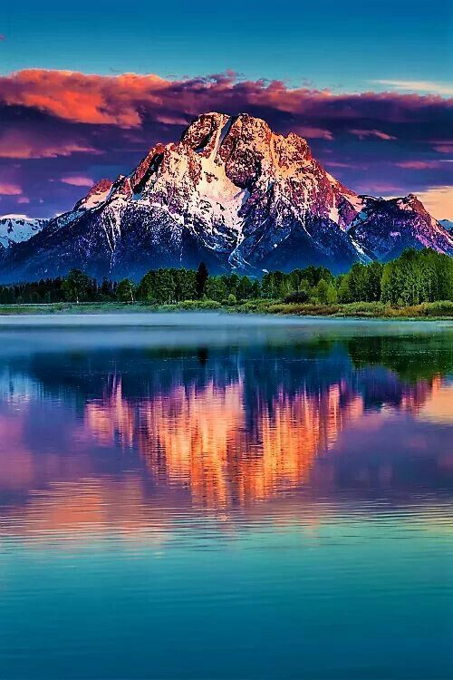 To go during the summer... The Grand Tetons #TravelDestinationsUsaWest #TravelDestinationsUsaArt