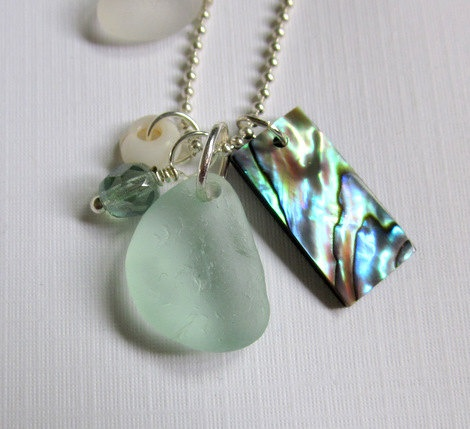 #abalone shell #seaglass.... (love the color, and STILL want)