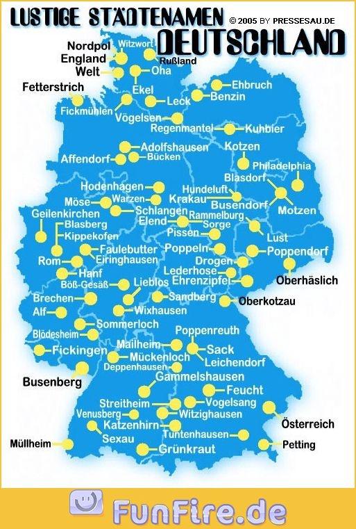 (Lustige) Städte in Deutschland