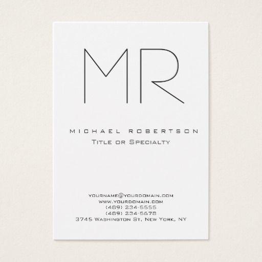 319 best elegant monogram metal business cards images on pinterest trendy modern monogram plain minimalist business card reheart Choice Image