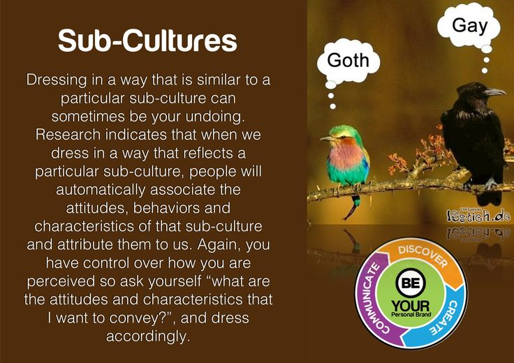 An interesting little fact about stereotypes, subcultures and expectations.