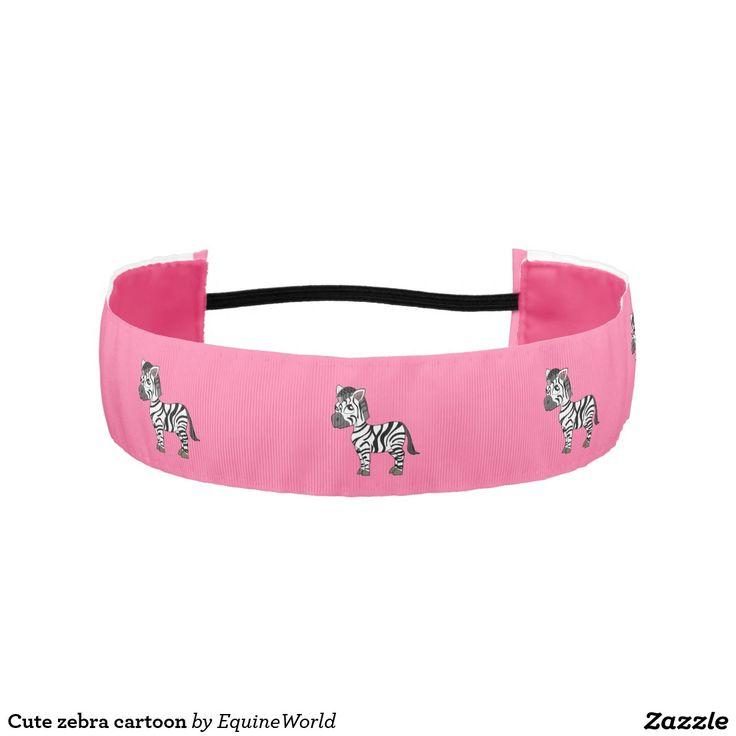 Cute zebra cartoon athletic headbands