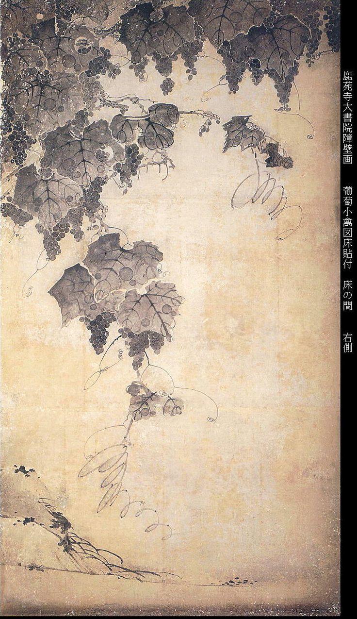 Wall painting at Rokuon-ji temple, by ITO Jakuchu, Japan