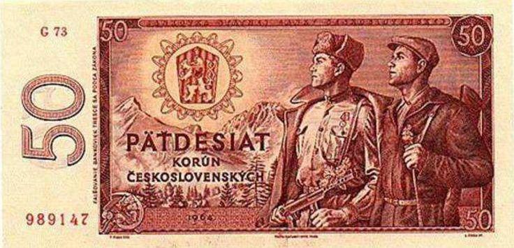 Bankovka v hodnotě 50 Kčs byla uvedena do oběhu v roce 1964.