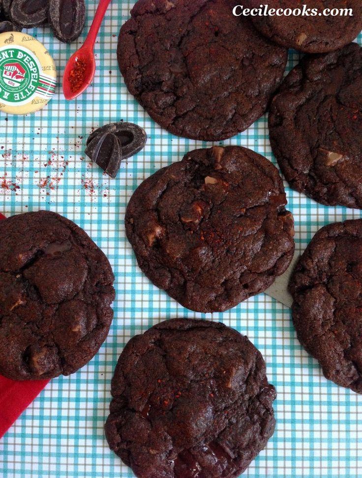 Espiègles cookies aux chocolat noir et piment d'Espelette : ma recette pour le concours-recettes de La Fabrique - Cookies - Cecilecooks