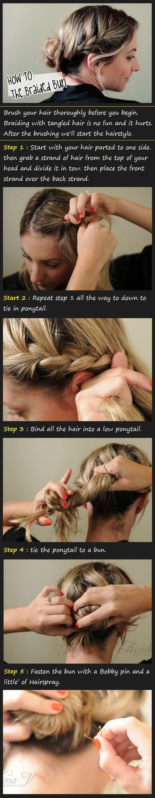 The Braided Bun Tutorial: Hair Ideas, Braids Hairstyles, Braided Buns, Hair Tutorials, Buns Hairstyles, Beautiful Tutorials, Hairstyles Tutorials, Braids Buns Tutorials, Hair Style