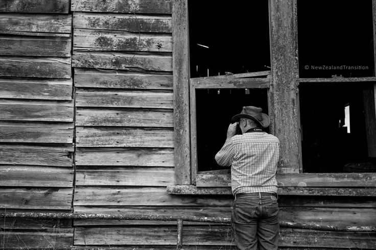 taking pictures of an old barn