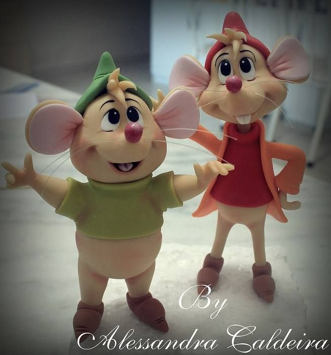 Cinderella's mice Fondant gumpaste
