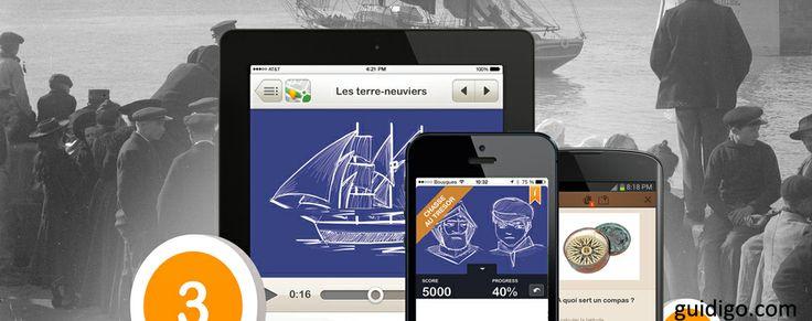 L'application Guidigo propose un parcours au sein de l'exposition au musée de Bretagne.