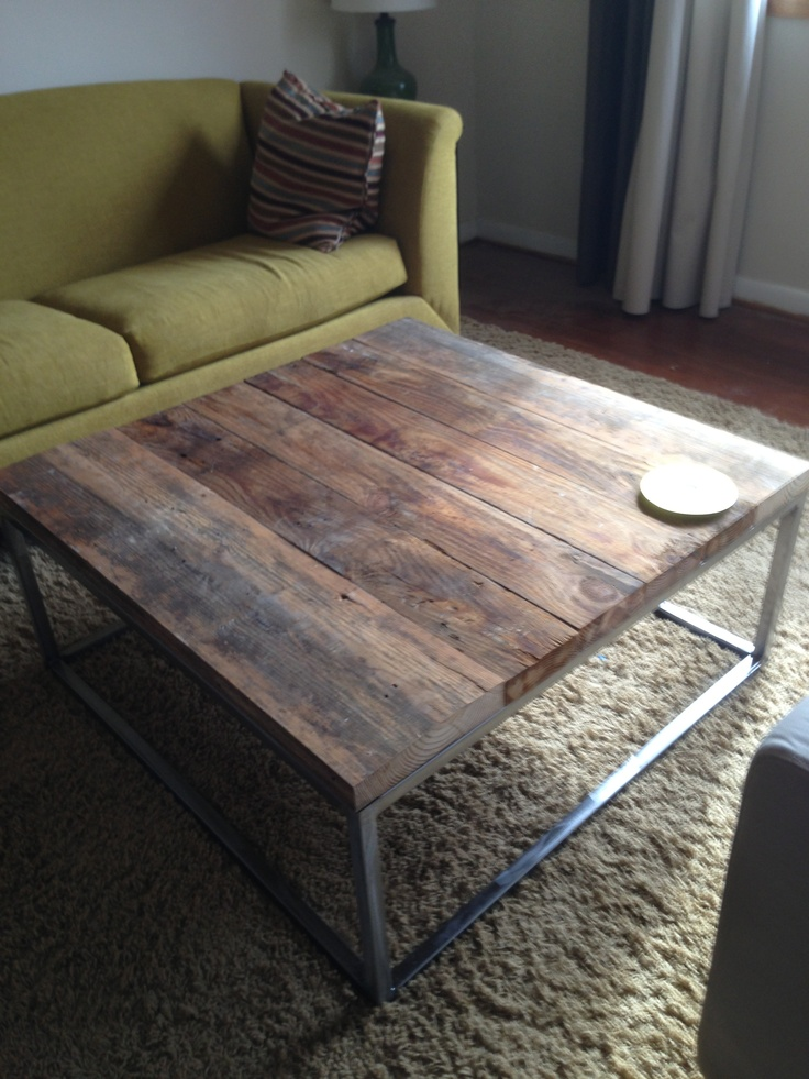 Diy Reclaimed Oak Welded Steel Coffee Table For The