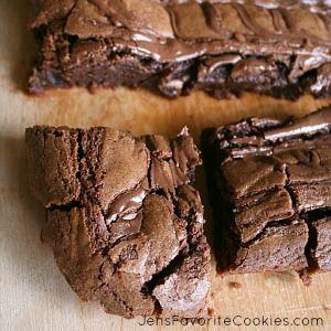 homemade nutella brownies