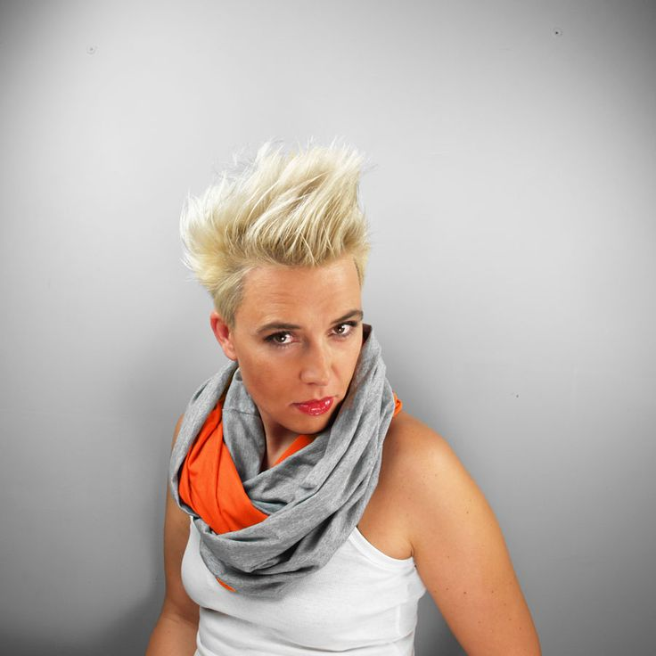KOMIN TUBA SZAL ORANGE #orange #tube #scarf #viscose #gray