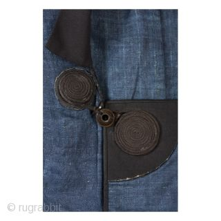 This is a gorgeous indigo dyed dochugi, or traveller's cape, woven from kudzu vine. Garments woven out of kudzu might have faded into obscurity had it not been for its favor among  ...