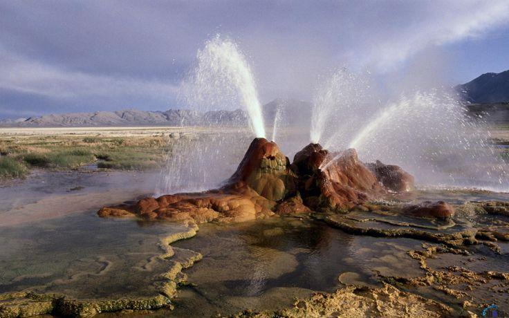 Обои для рабочего стола Флай (гейзер), Пустыня Блэк-Рок, Невада