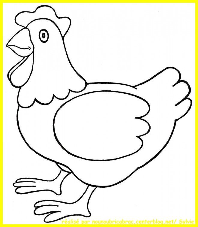 Coloriage Poule 3 Et Dessin Gratuit A Imprimer Dessine Les