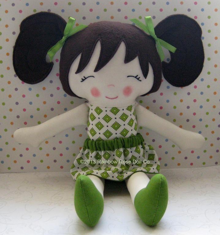 Cloth Doll Pattern PDF Rag Doll Kathy