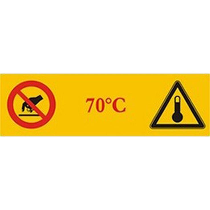 Indicateurs de température illustrés thermosensibles Tempsafe +70°C