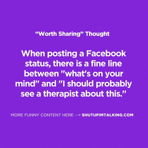 Doesn't seem like many people know about this line... haha!: Facebook Status, Funny Pics, True, Truths, Funny Quotes, Humor, Things, Finding Funny, Author Blog