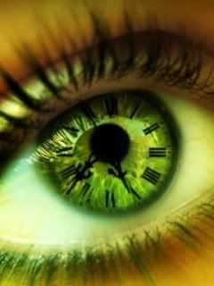 Clock Style Colored Contacts. Don't think I'd wear these, but they are kinda cool to look at