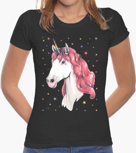 Camiseta Unicornio pelirrosa
