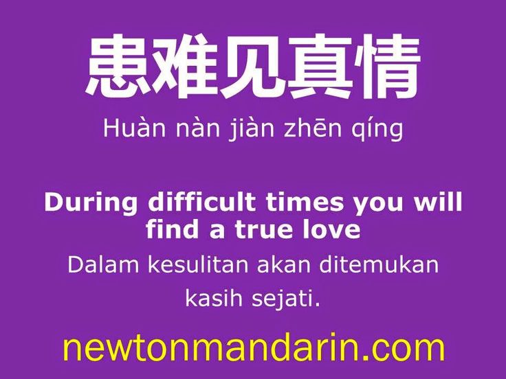 newtonmandarin.com: During difficult times, you will find a true love