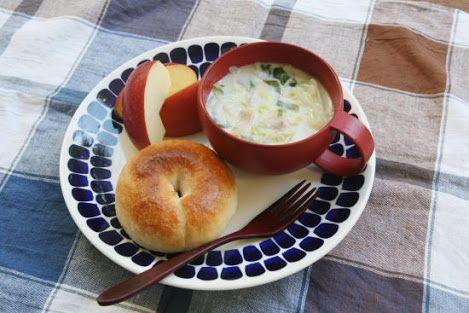 ベーグルとスープ