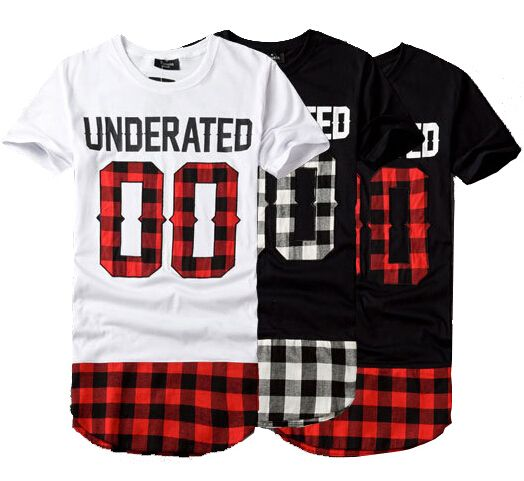 UNDERATED Men Harajuku Rock T shirts Man Extended Tee HBA Hood By Air Hip Hop…