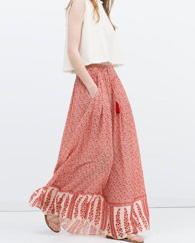 LONG PRINTED SKIRT-Maxi-Skirts-WOMAN | ZARA United States