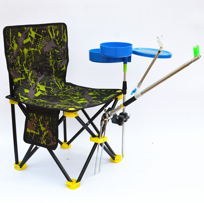 Outdoor portable  folding fishing chair  with turret fishing gear fishing stool  FREE SHIPPING