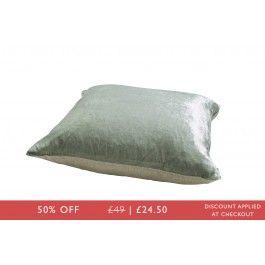 Crushed Velvet And Linen Cushion