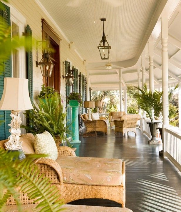 Porches That Pop! --> http://www.hgtvgardens.com/decorating/porches-that-pop?soc=pinterest                                                                                                                                                      More